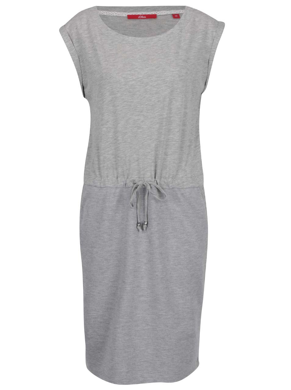 Šedé dámské volné šaty s krátkým rukávem s.Oliver