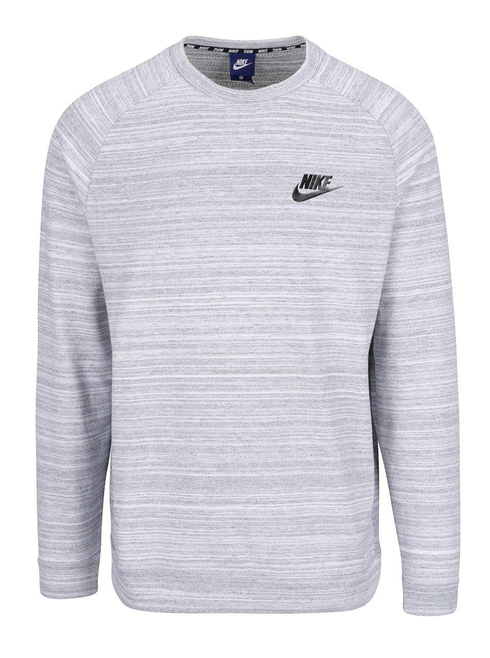 Bílá pánská žíhaná mikina Nike