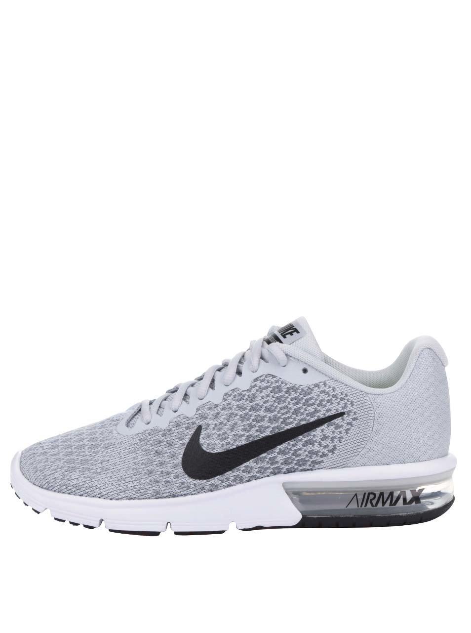 Šedé pánské žíhané tenisky Nike Air Max