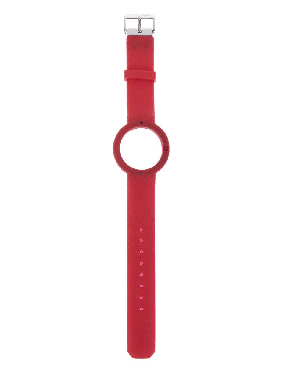 Červený gumový pásek k hodinkám Ju'sto Rosso 40 mm