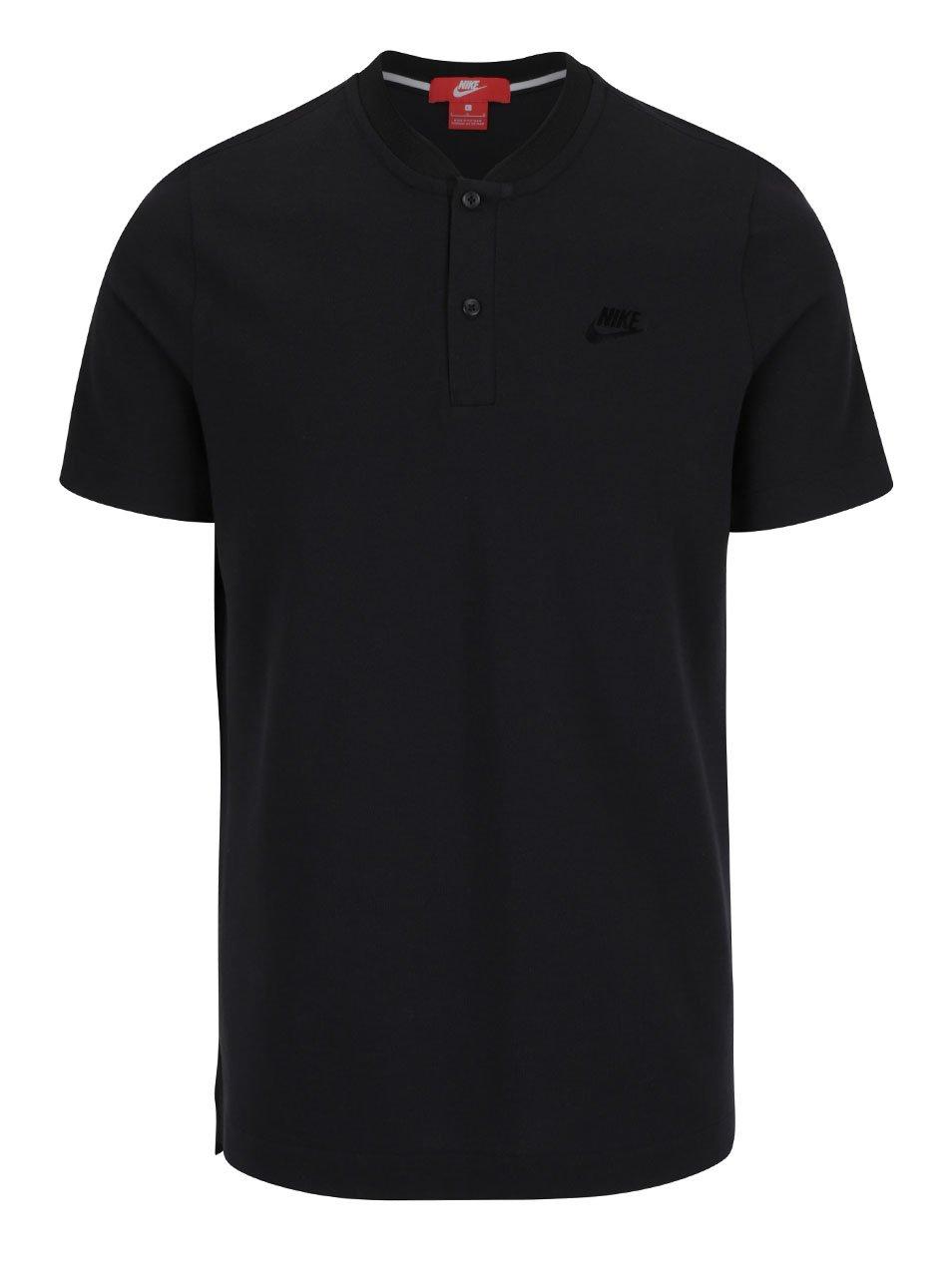 Černé pánské polo triko s logem Nike