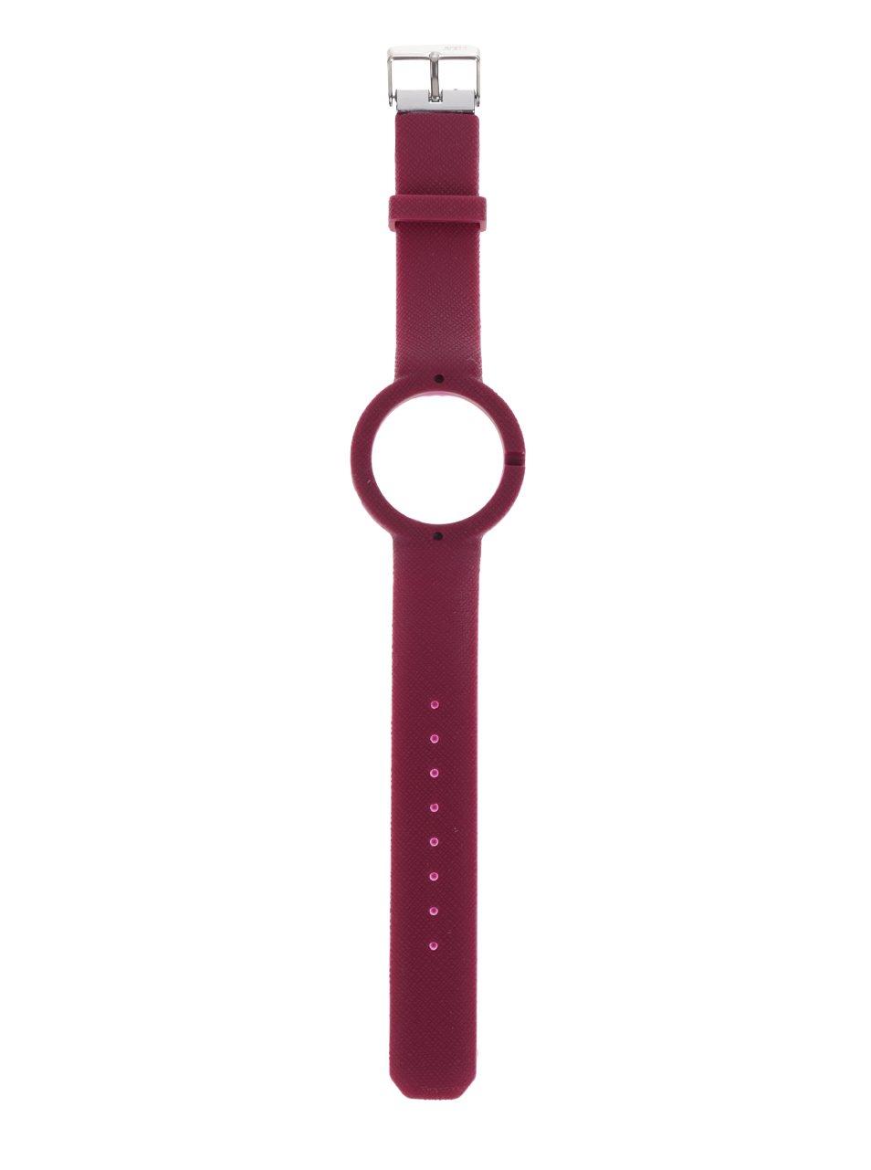 Tmavě růžový gumový pásek k hodinkám Ju'sto Justo 40 mm