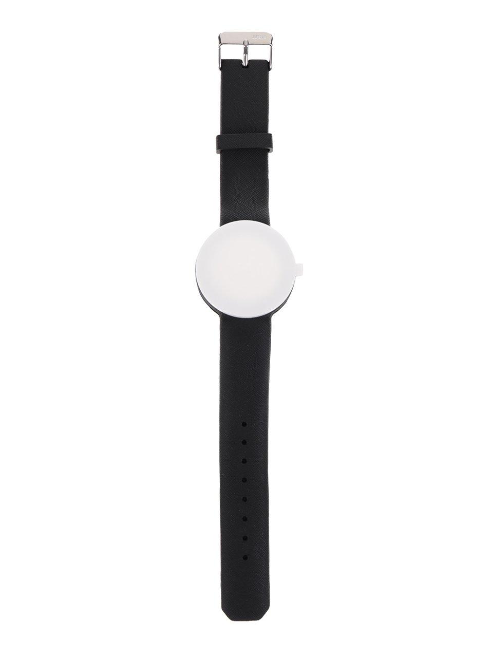 Černý gumový pásek k hodinkám Ju'sto Nero 40 mm