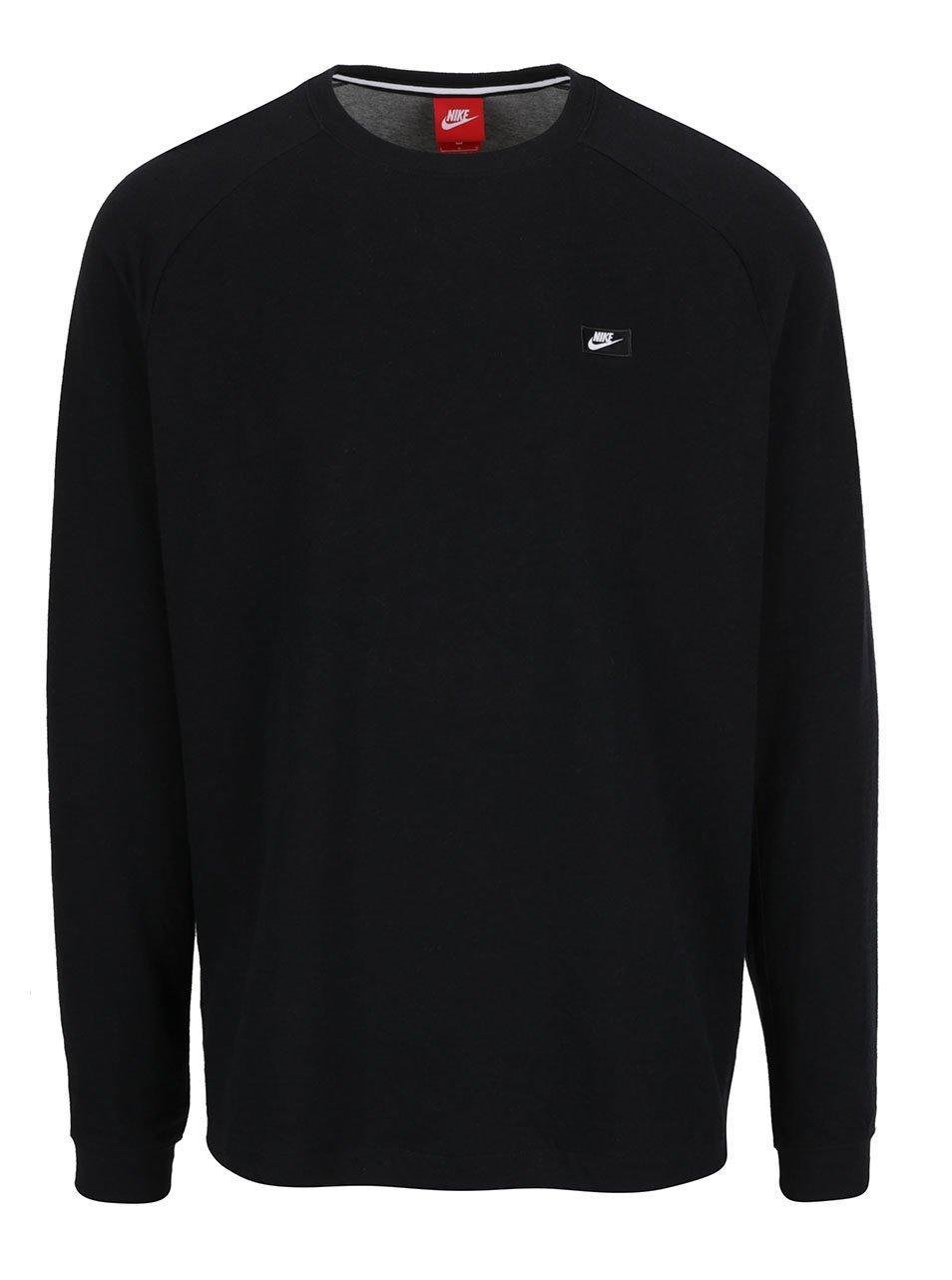 Černá pánská mikina se zipem na levém boku Nike Modern