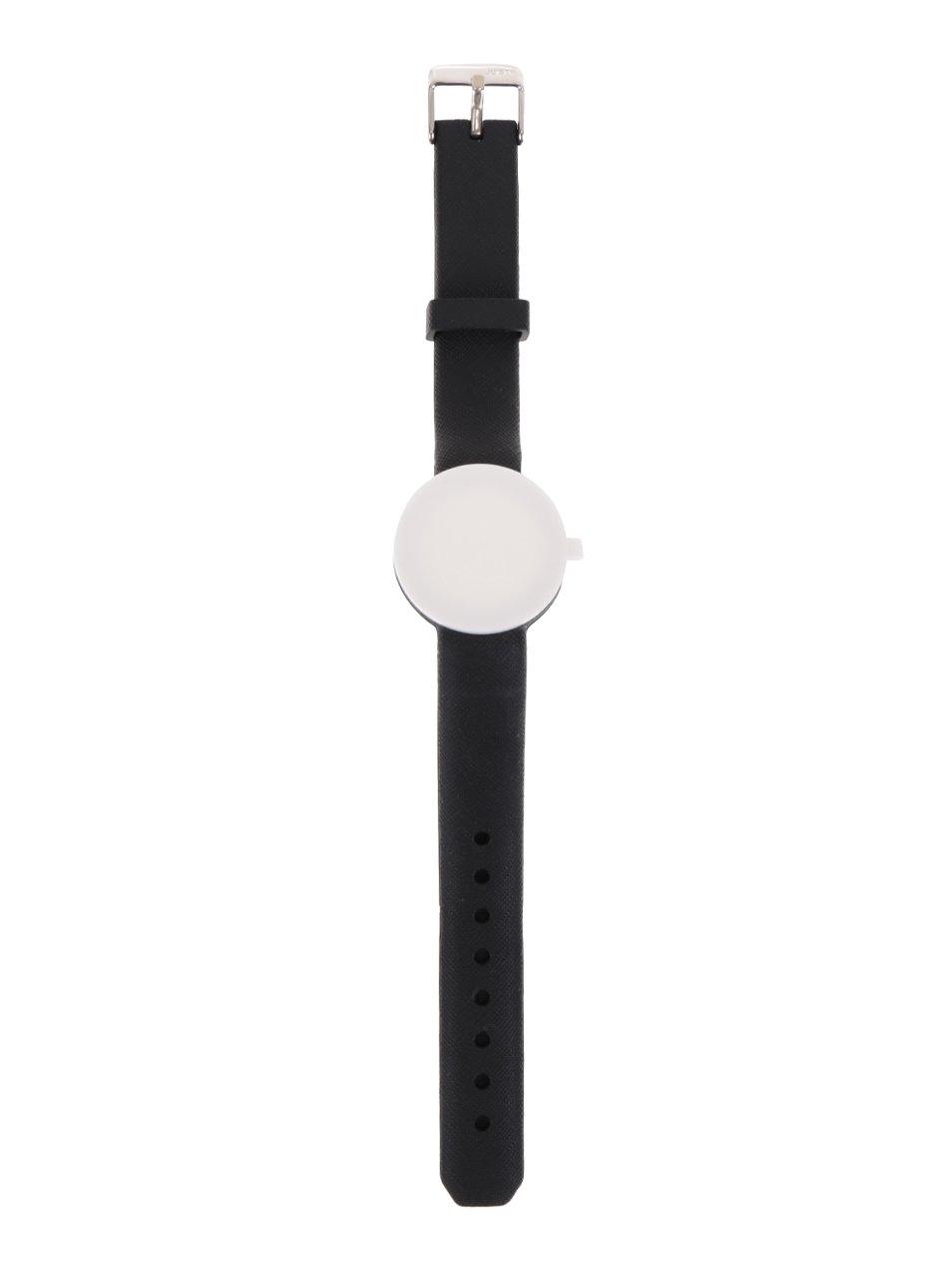 Černý gumový pásek k hodinkám Ju'sto Nero 32 mm