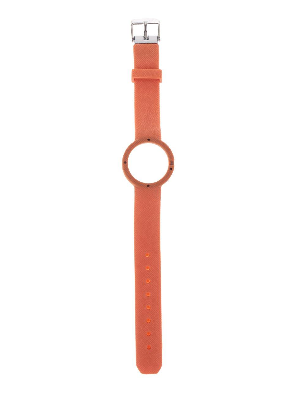 Oranžový gumový pásek k hodinkám Ju'sto Salmone 32 mm