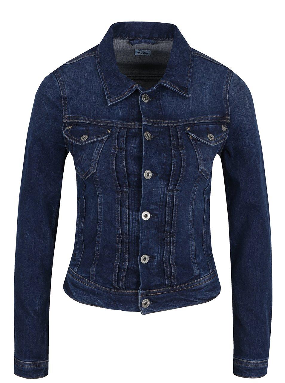 Tmavě modrá dámská džínová bunda Pepe Jeans Mikas