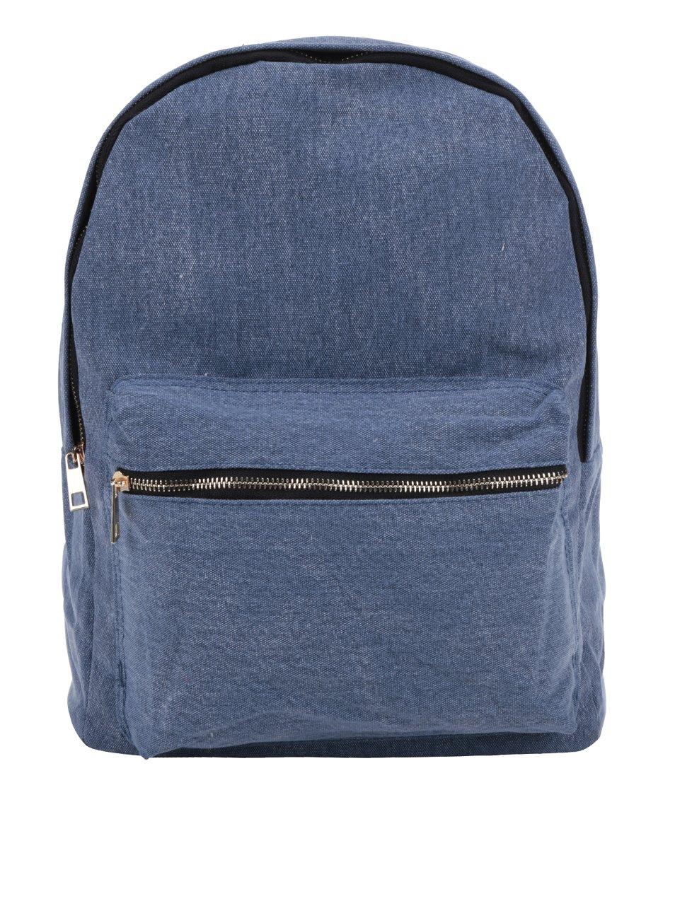 Modrý dámský plátěný džínový batoh ZOOT