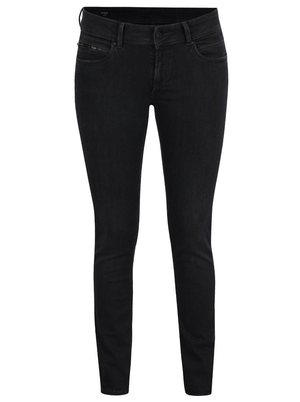 Černé dámské slim džíny Pepe Jeans New Brooke