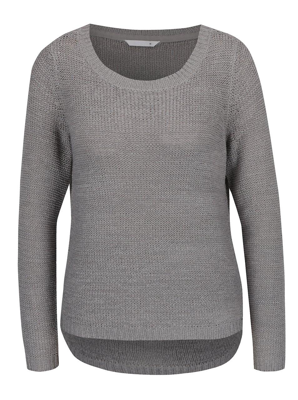Šedý pletený svetr ONLY Geena