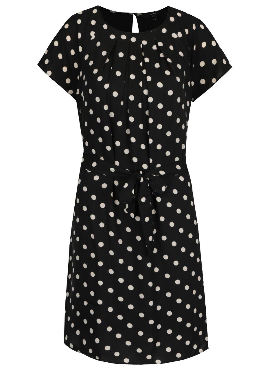 Krémovo-černé puntíkované šaty Vero Moda Nelli