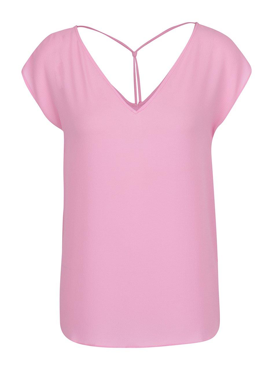 Růžové tričko s véčkovým výstřihem ONLY Myrina