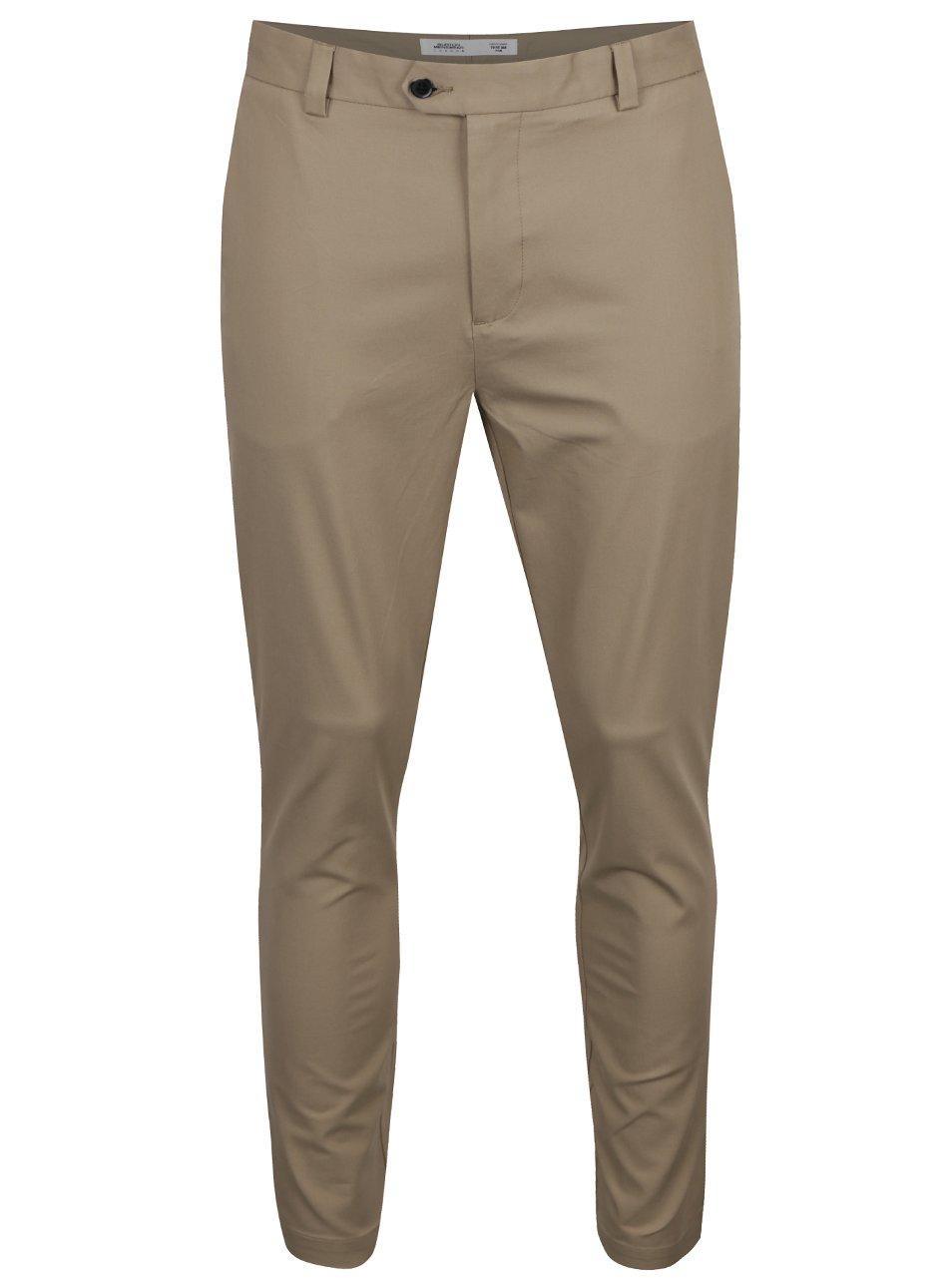 Béžové formální skinny kalhoty Burton Menswear London