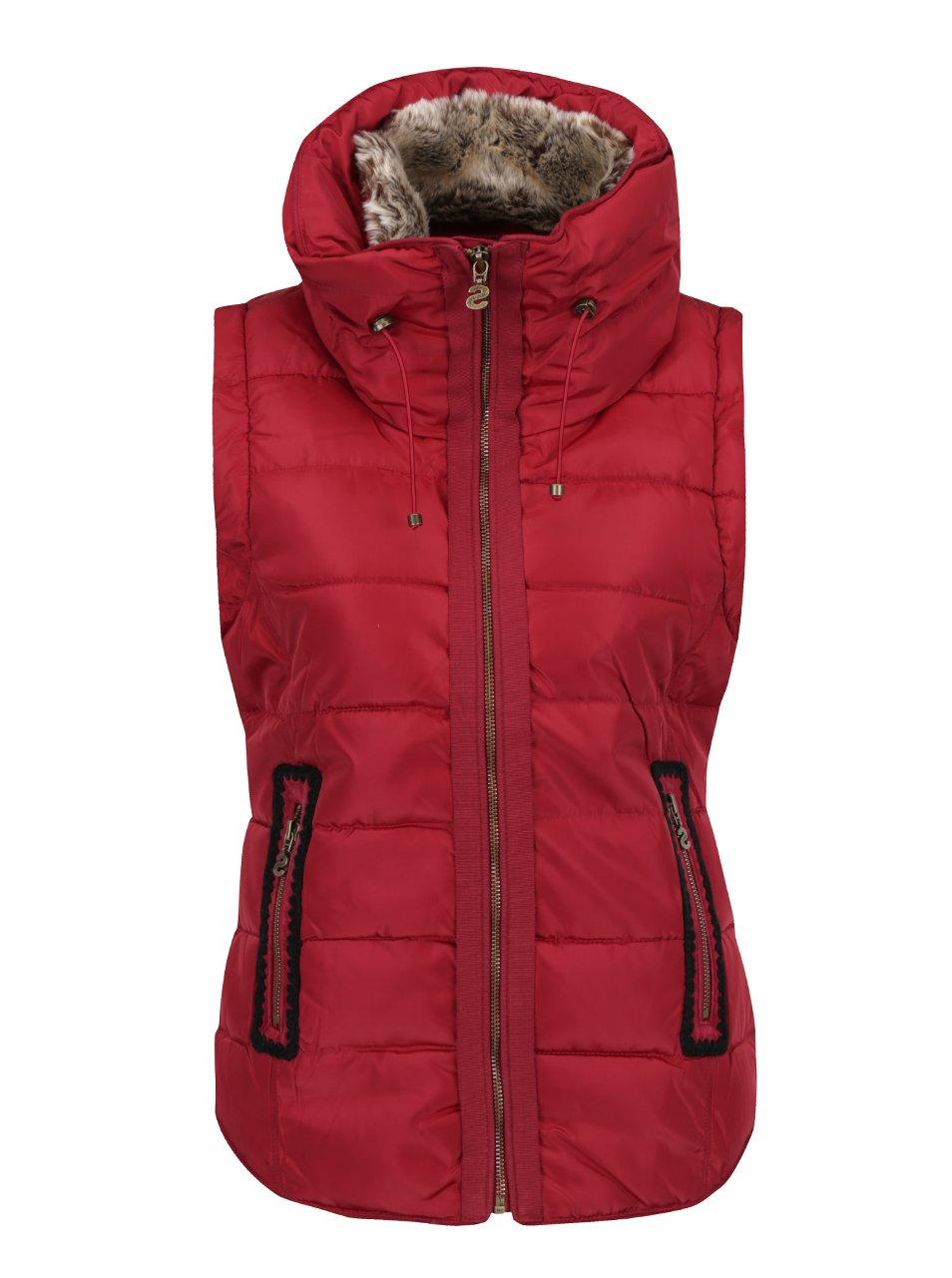 Červená prošívaná vesta Desigual Salva