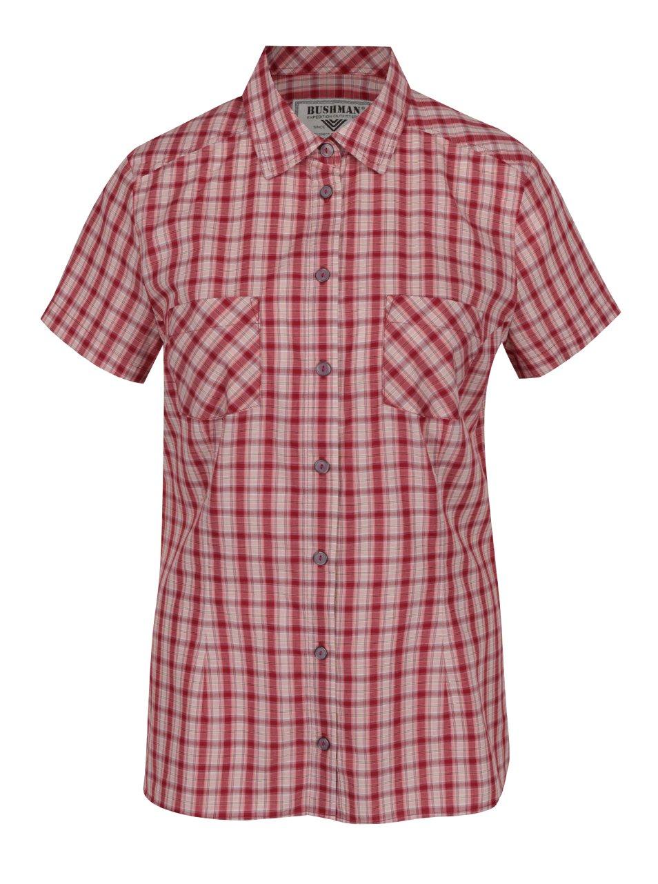 Červená dámská kostkovaná košile BUSHMAN Georgia