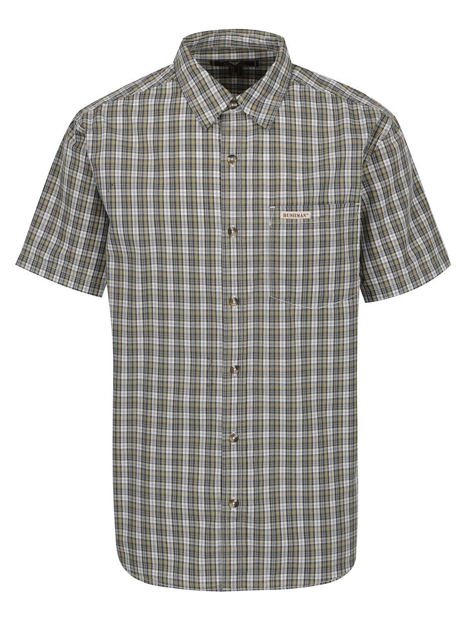 Zelená pánská kostkovaná košile BUSHMAN Conroe