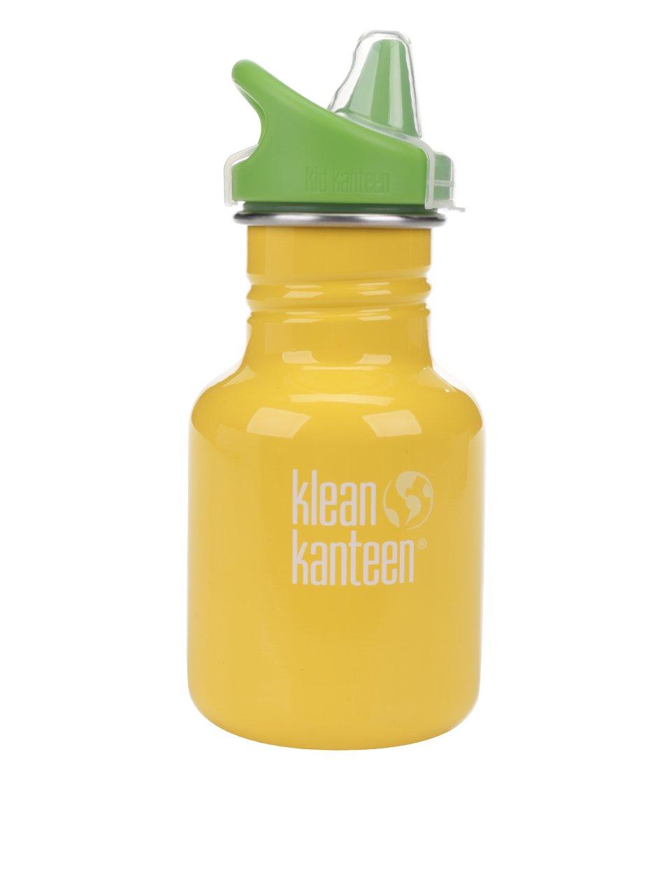 Žlutá dětská nerezová lahev Klean Kanteen Kid Classic Sippy 355 ml