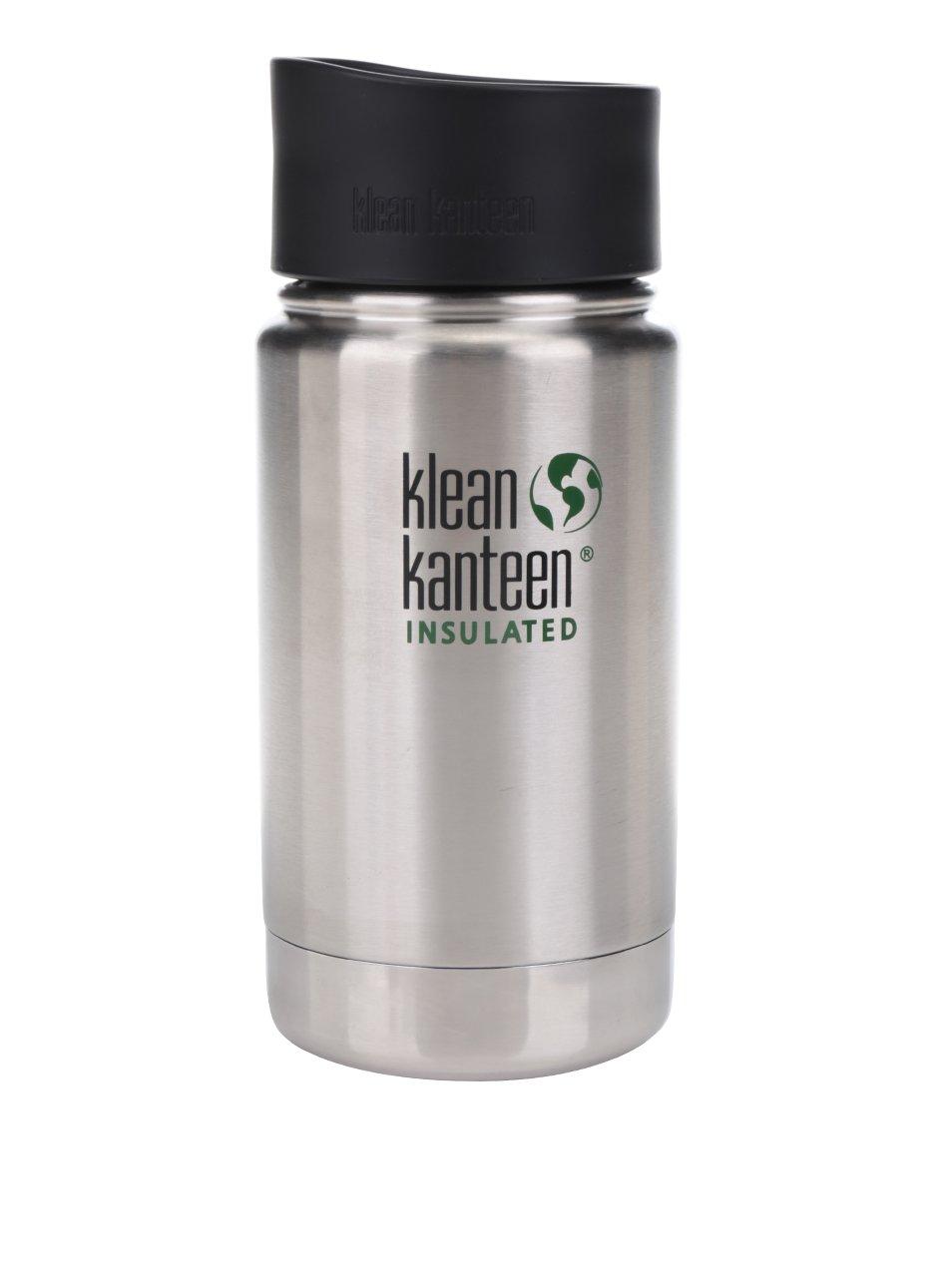 Nerezová termoska ve stříbrné barvě Klean Kanteen Insulated Wide 355 ml