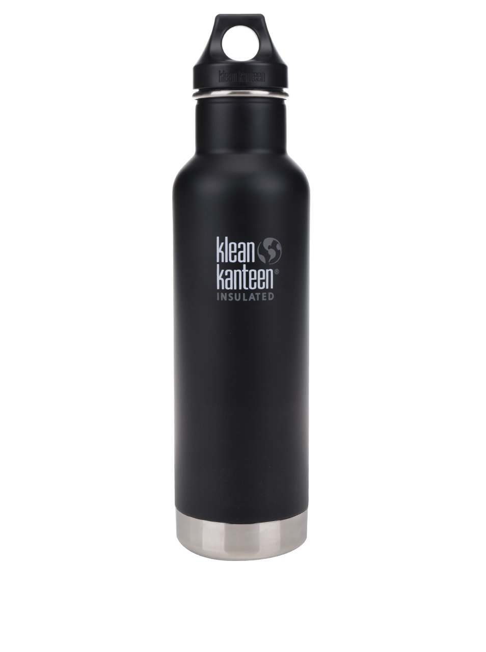 Černá nerezová termo lahev Klean Kanteen Insulated Classic 592 ml