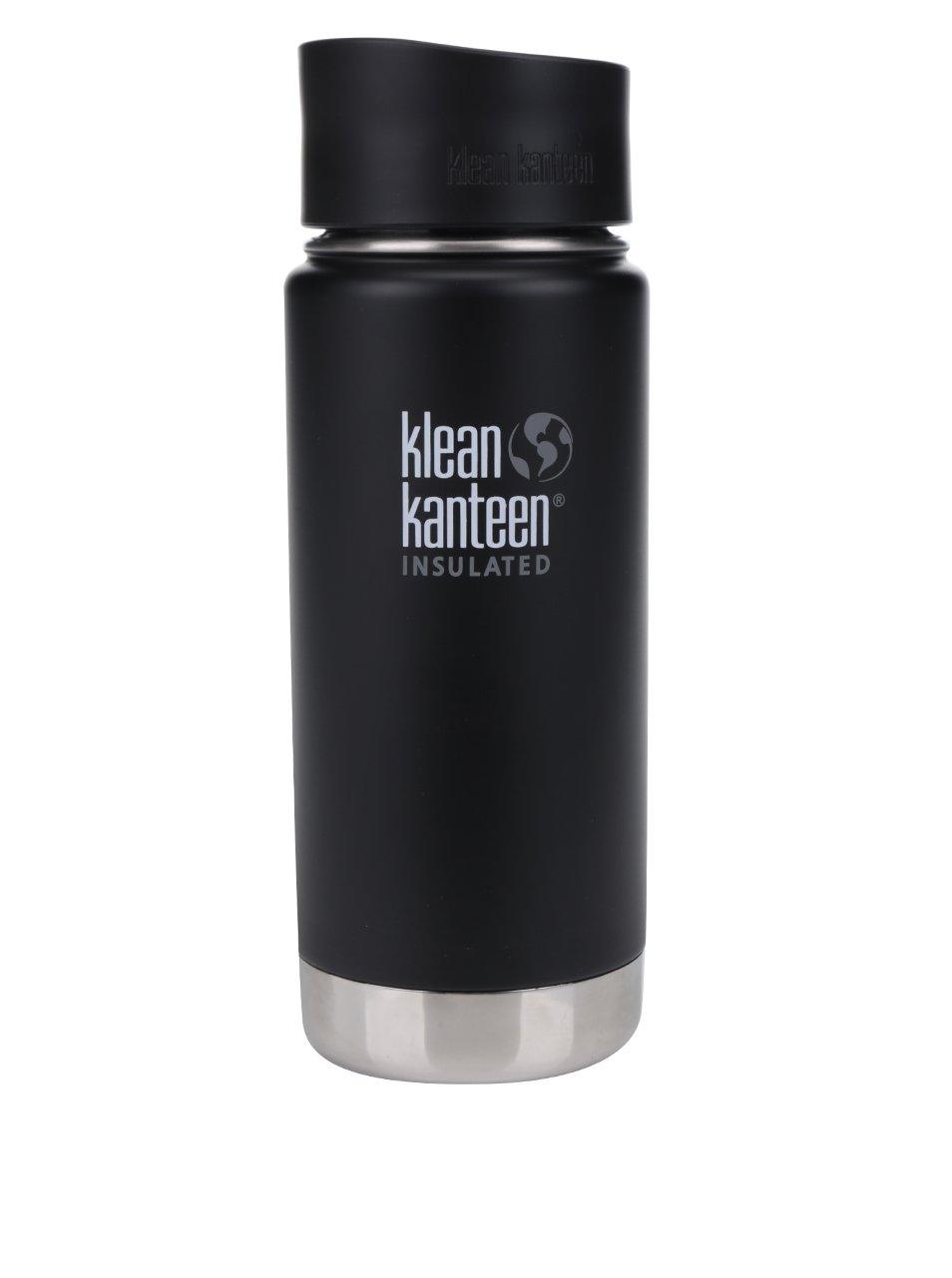Černá nerezová termoska Klean Kanteen Insulated Wide 473 ml