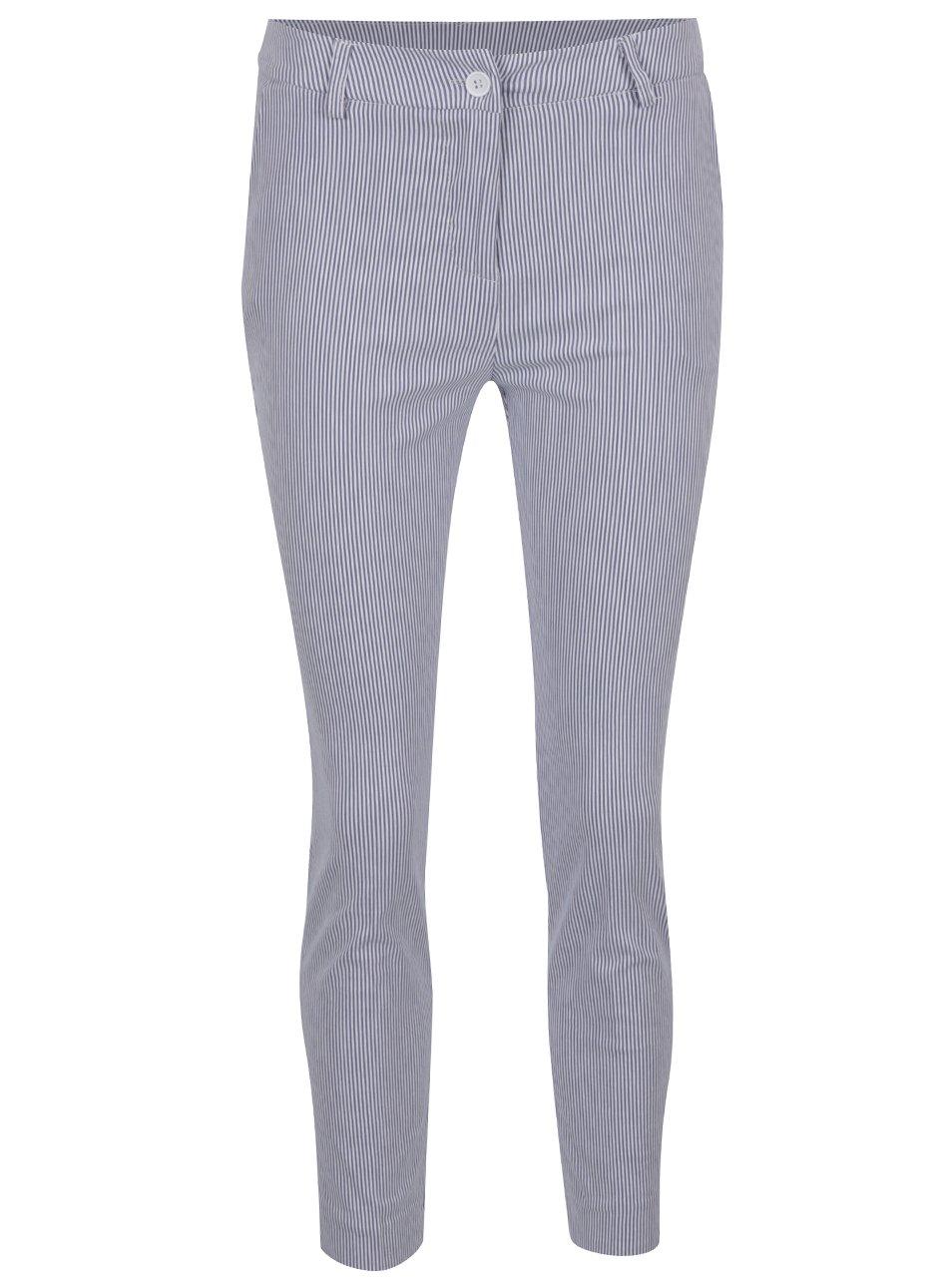 Modré pruhované zkrácené kalhoty ZOOT