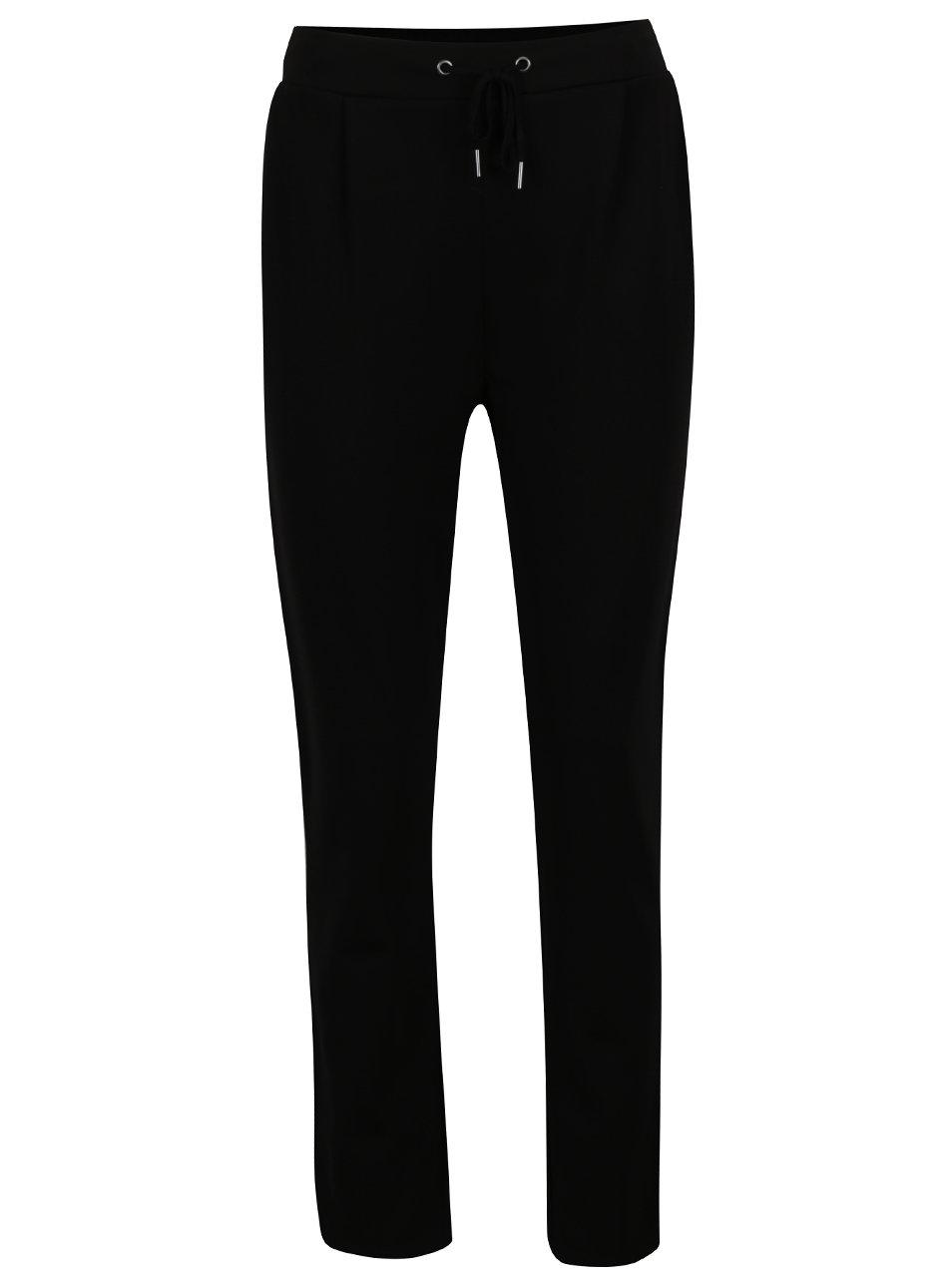 Černé volné kalhoty s pružným pasem VILA Class 3bf14b13ae