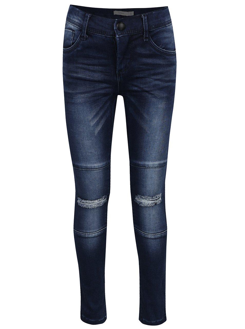 Tmavě modré holčičí skinny džíny s potrhaným efektem name it Tammy