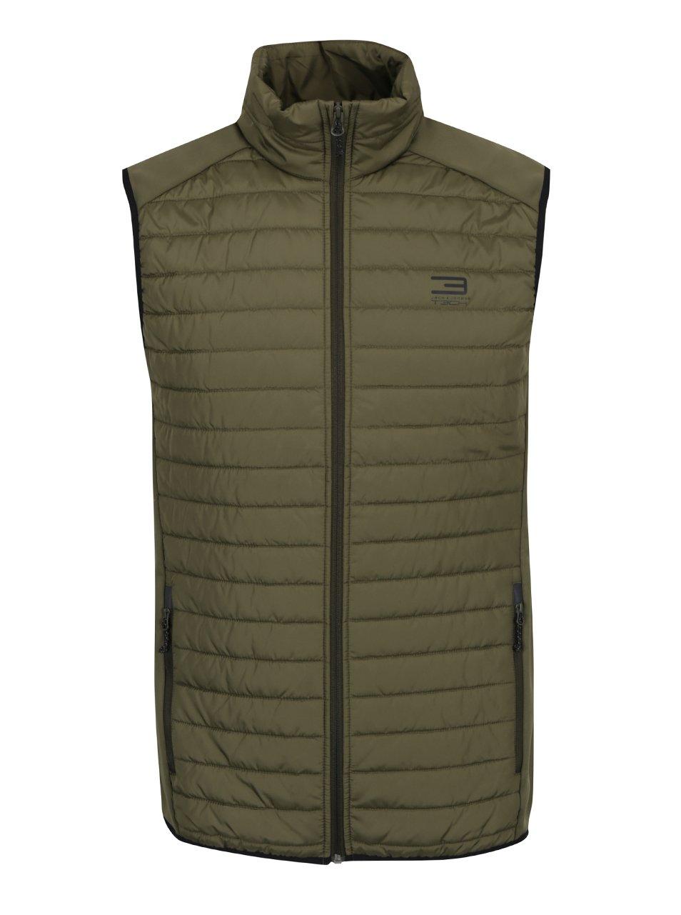 Zelená prošívaná vesta Jack & Jones Multi Body Warmer