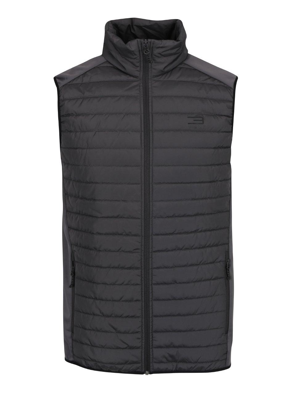Tmavě šedá prošívaná vesta Jack & Jones Multi Body Warmer