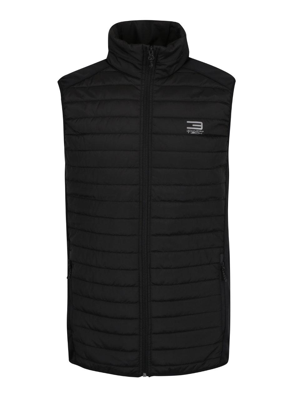 Černá prošívaná vesta Jack & Jones Multi Body Warmer