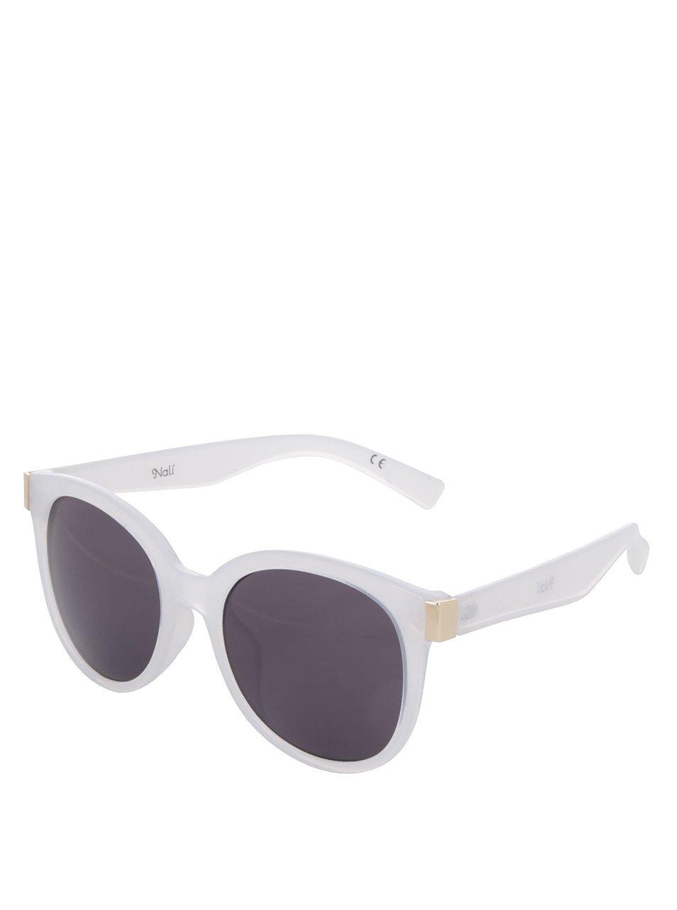 Bílé dámské sluneční brýle s černými skly Nalí