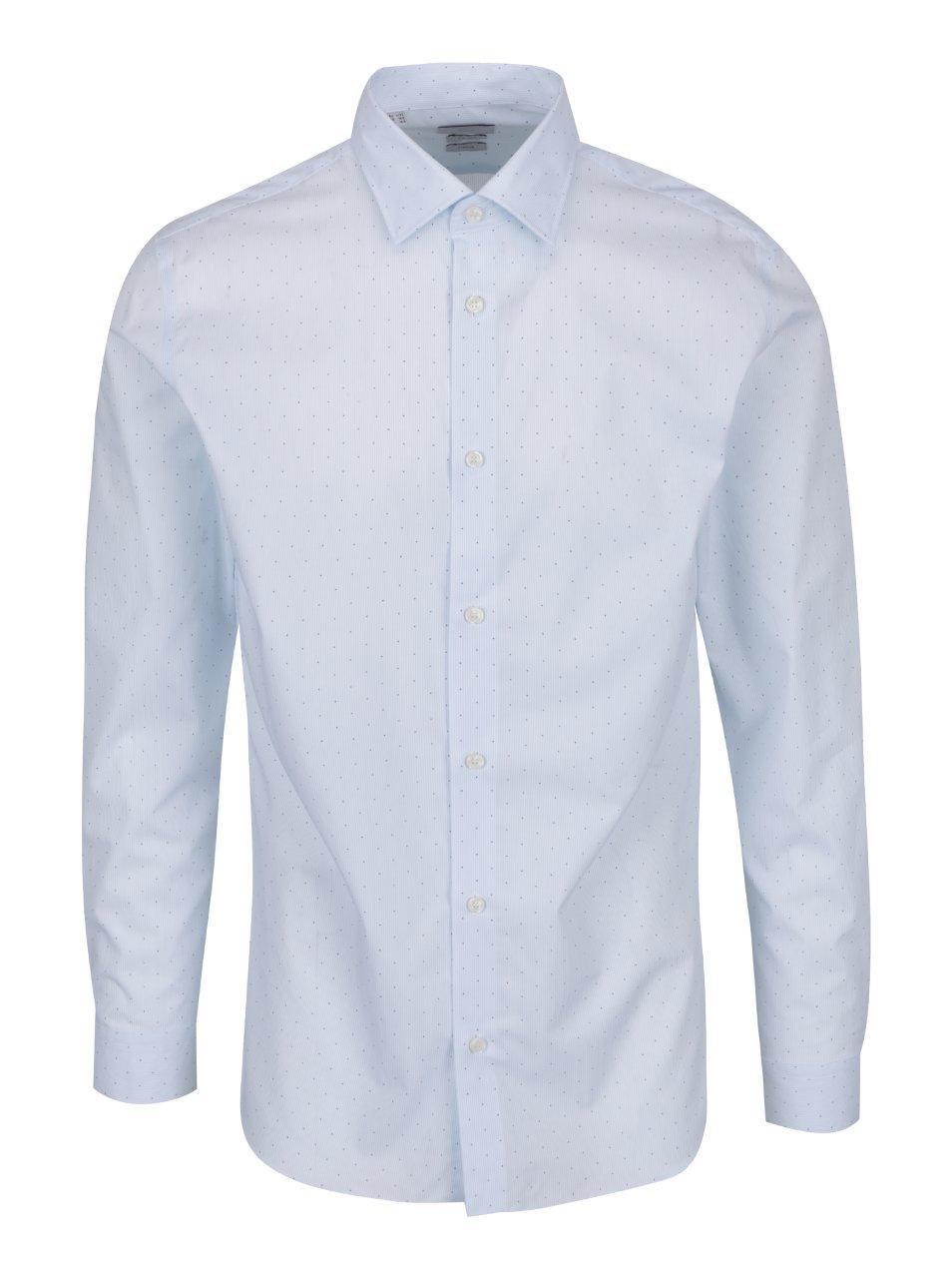 Světle modrá formální vzorovaná slim fit košile Selected Homme Done Pen