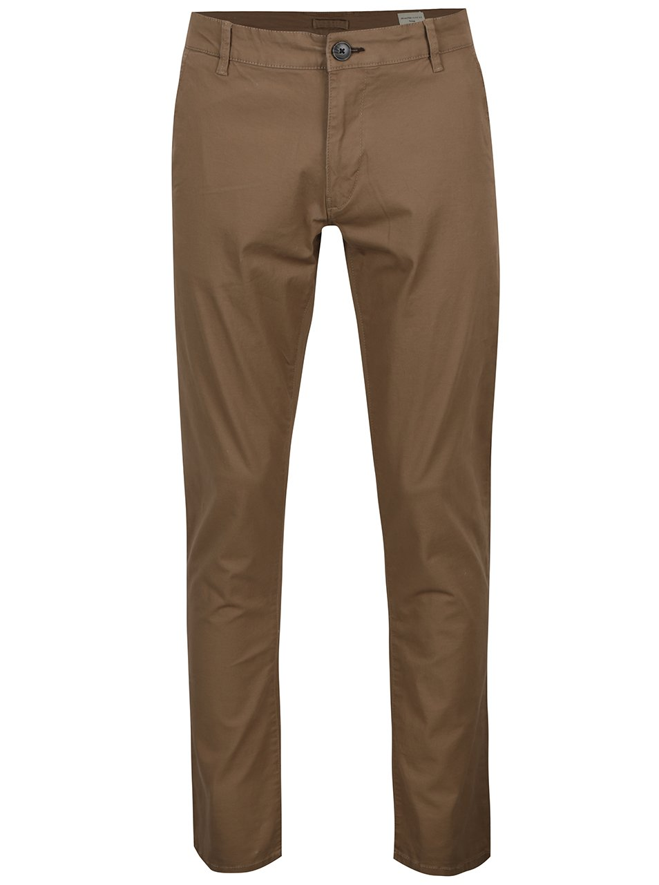 Hnědé chino kalhoty Selected Homme Three Paris