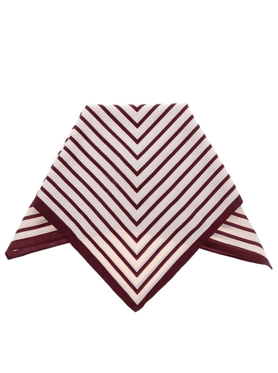 Vínovo-krémový vzorovaný šátek Pieces Nivy
