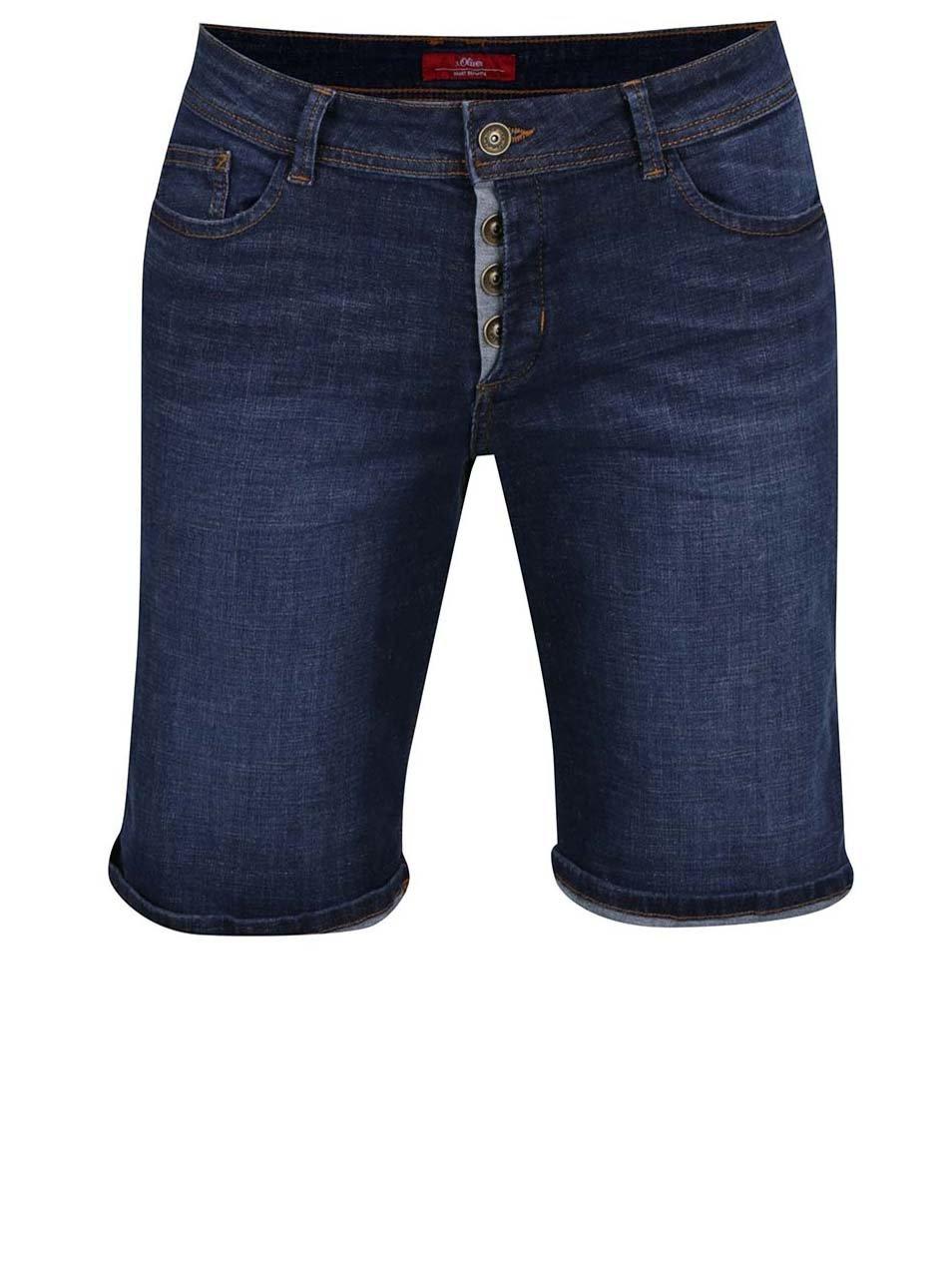 Tmavě modré dámské džínové kraťasy s.Oliver