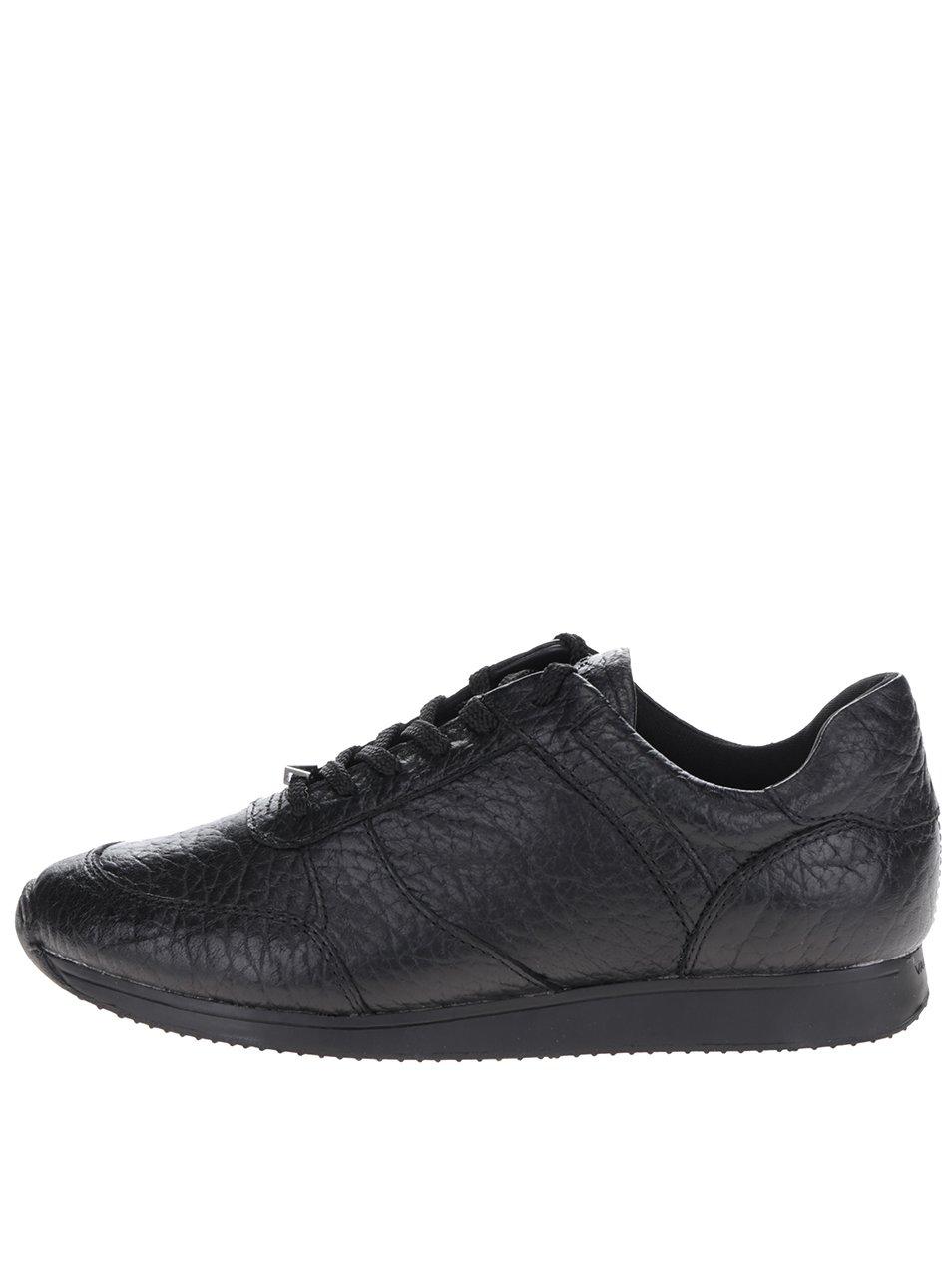 Černé dámské kožené tenisky Vagabond Kasai