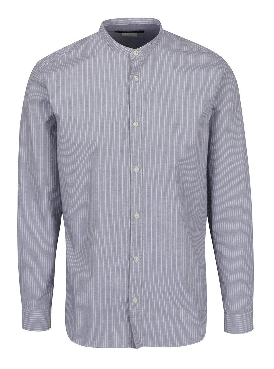 Šedá pruhovaná slim fit košile Jack & Jones Premium Sao Paulo