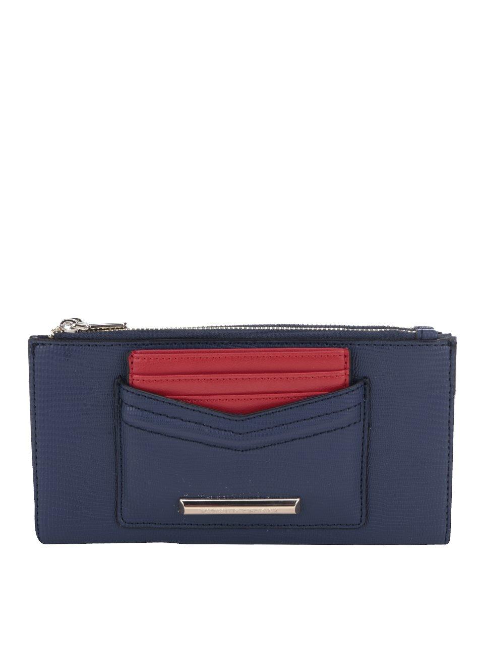 Modrá peněženka s červeným pouzdrem na karty Dorothy Perkins