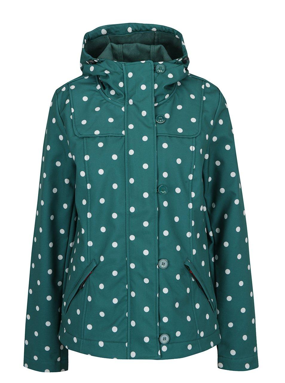 Zelená nepromokavá puntíkovaná bunda Blutsgeschwister