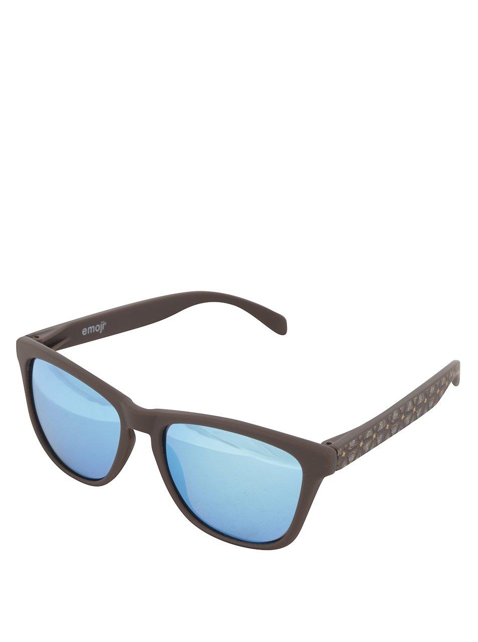 Tmavě hnědé unisex sluneční brýle Emoji Poop