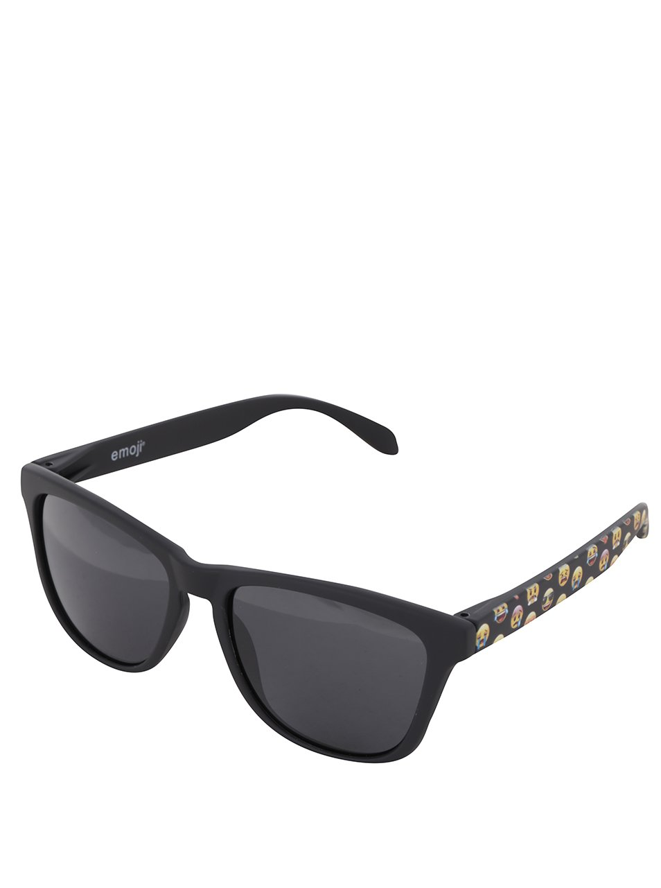 Černé unisex sluneční brýle Emoji Smiles