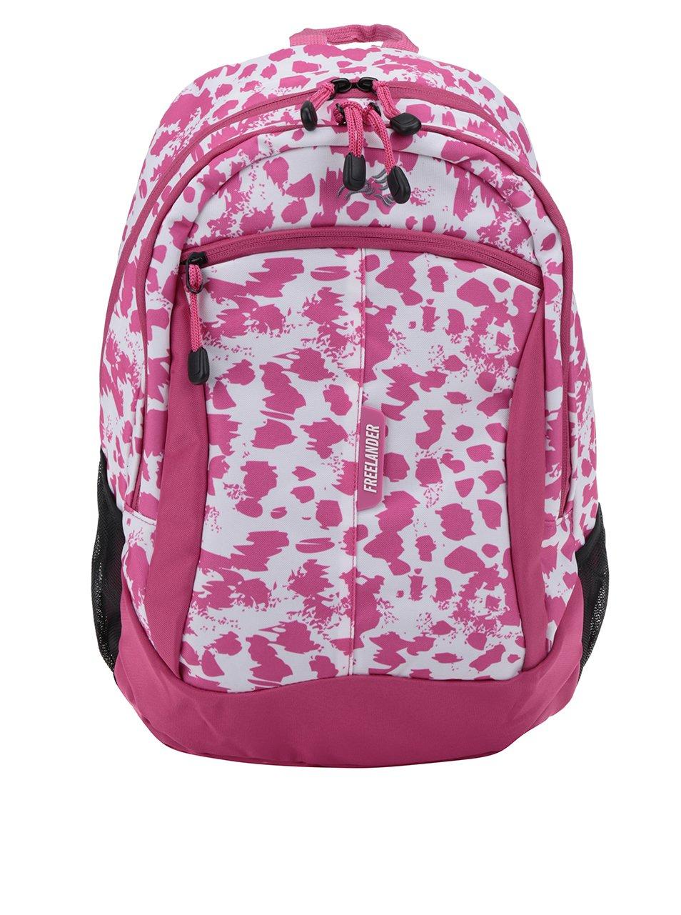 Růžový holčičí vzorovaný batoh Freelander Multi Compartment 30 l