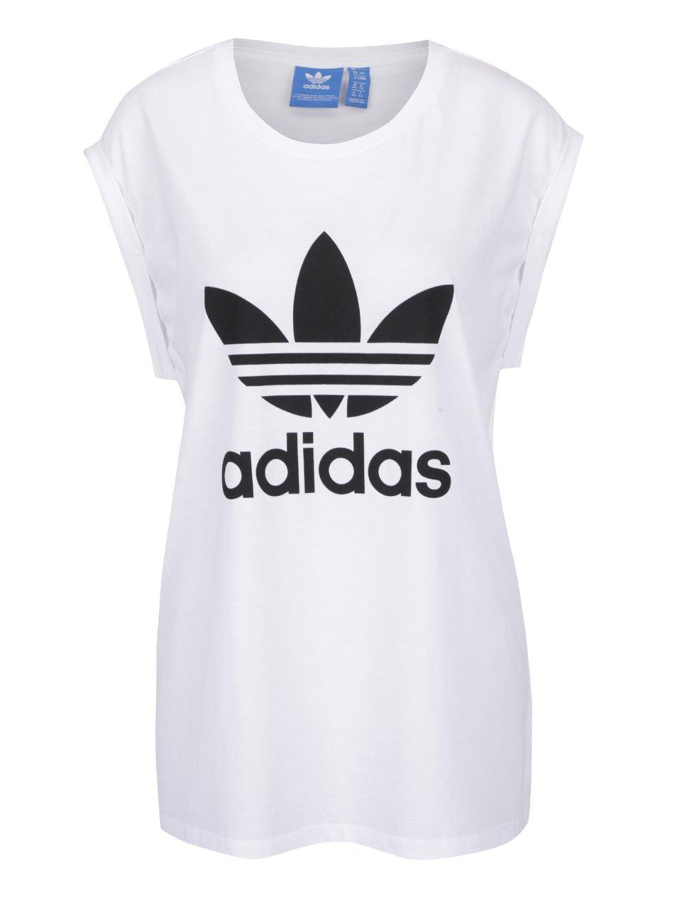 Bílé dámské volné tričko adidas Originals