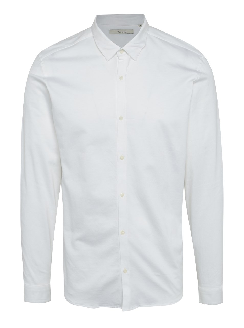 Krémová slim fit košile Jack & Jones Premium Knit
