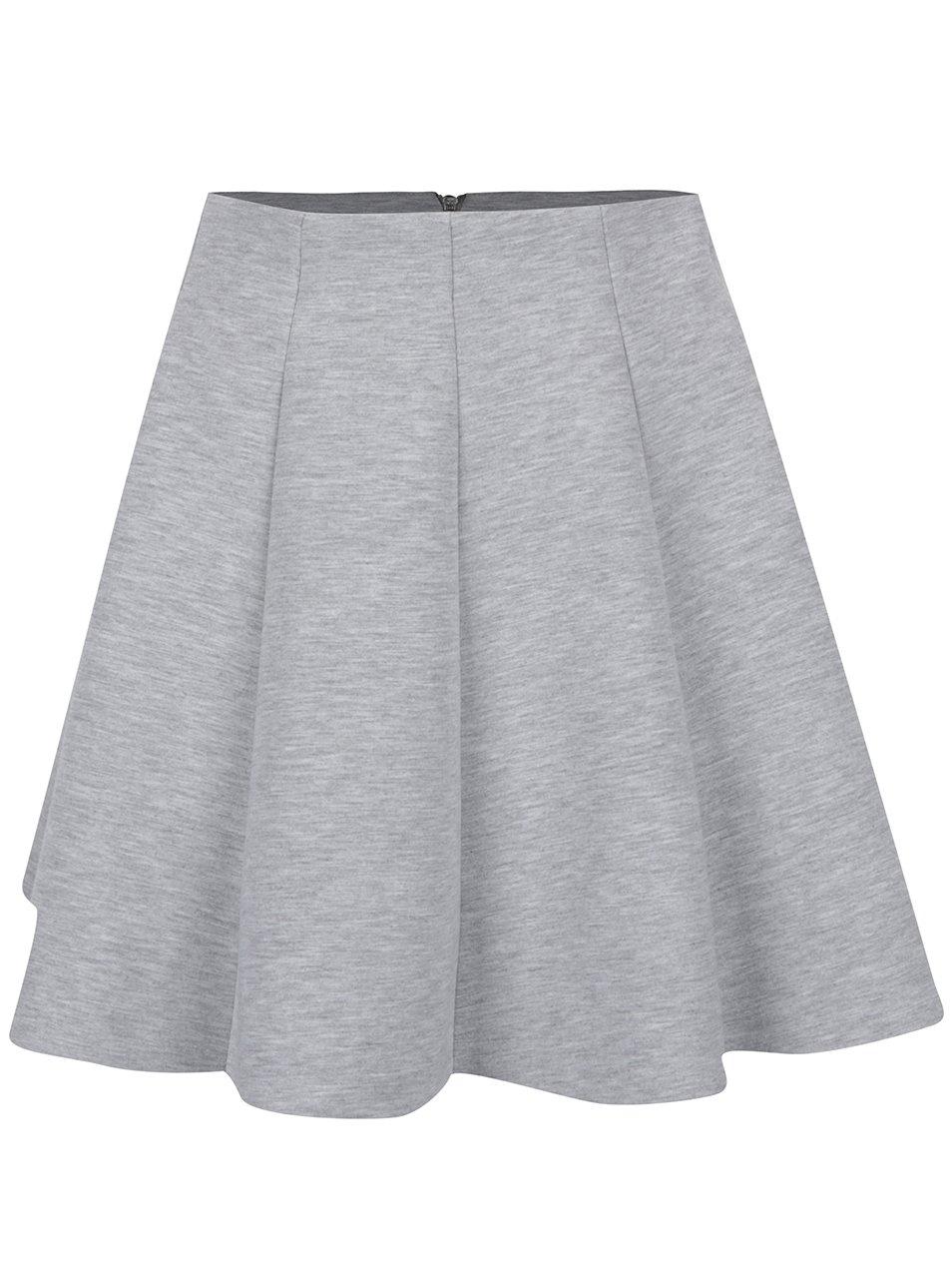 Šedá žíhaná mini sukně do pasu TALLY WEiJL