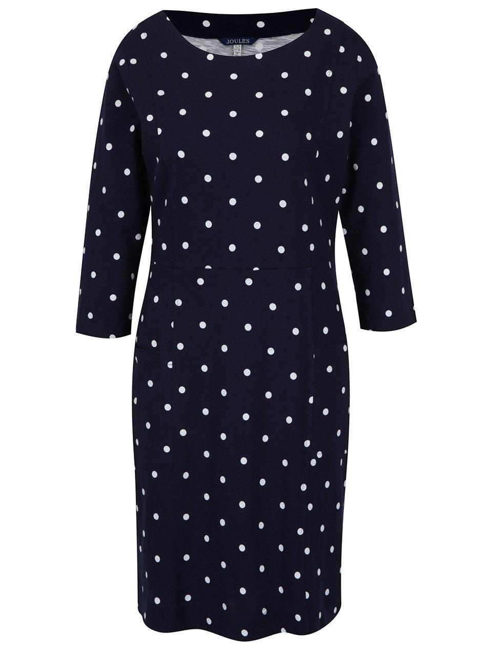 Modré dámské puntíkované šaty Tom Joule