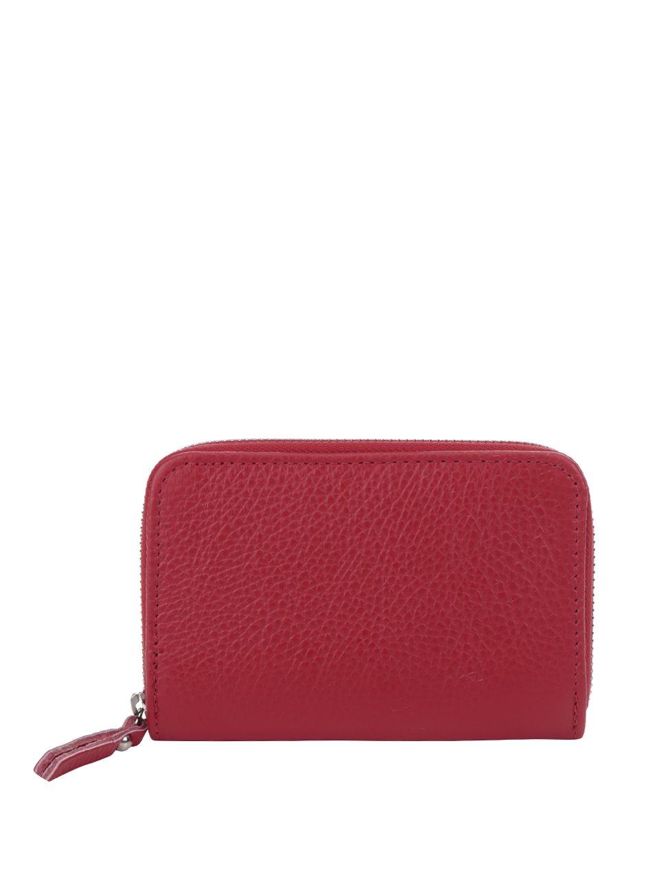 Červená kožená peněženka ZOOT