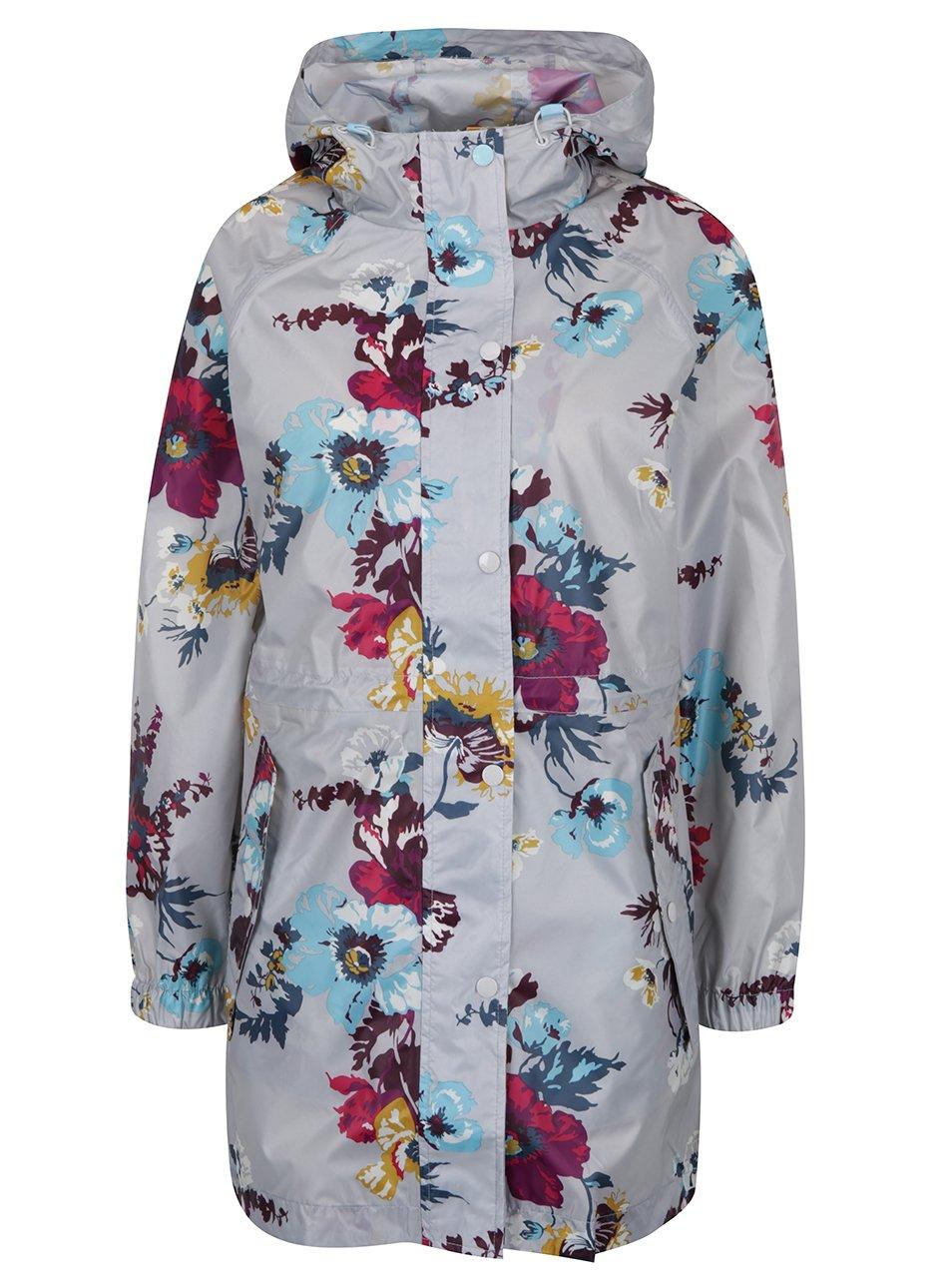 Šedá dámská květovaná pláštěnka Tom Joule