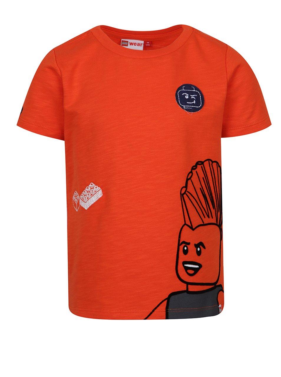 Oranžové klučičí triko s nášivkami Lego Wear Teo
