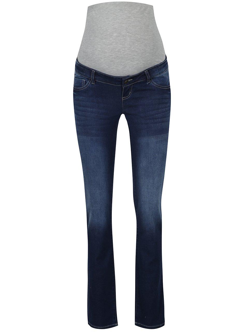 Modré těhotenské džíny s vyšisovaným efektem Mama.licious Rika